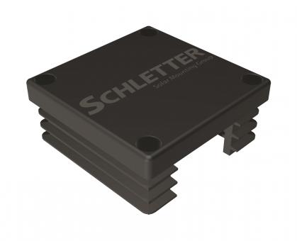 Schletter Kunststoff-Endkappe Solo schwarz