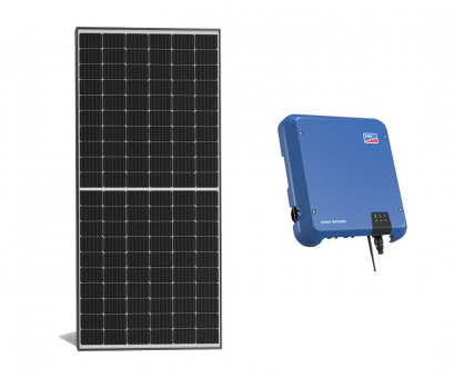 Photovoltaik-Anlage 9,99 kWp - LONGi Hi-MO4 LR4-60HIH 370W + SMA STP 10.0 + K2 Dachpfanne